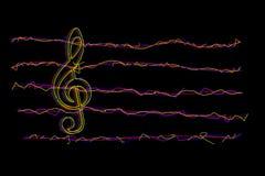 Pauta musical & notas da música Imagem de Stock