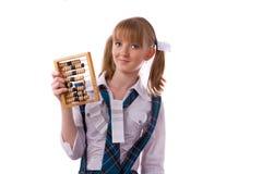 Pauvre étudiant avec l'abaque. Photo stock
