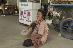 Pauvre femme au Cambodge photographie stock