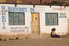Pauvre femme, Bolivie Images stock