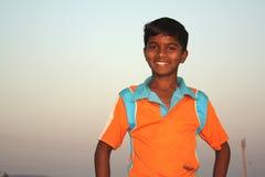 Pauvre garçon indien Photographie stock