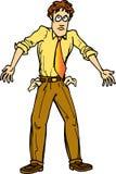Pauvre homme avec des poches à l'extérieur Image stock
