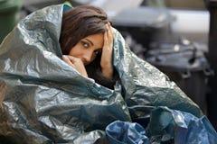 Pauvre jeune femme Photos libres de droits