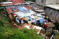 Pauvre Shanty Town des récolteuses de thé photos stock