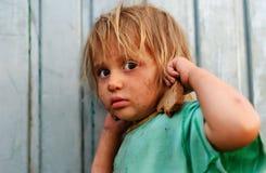 Pauvres enfants photo libre de droits