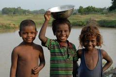 Pauvres enfants Image libre de droits