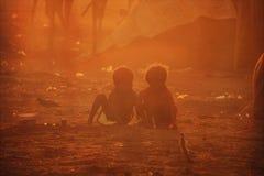Pauvres enfants d'Inde Photos libres de droits