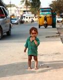 Pauvres enfants en Inde images libres de droits