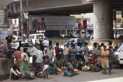 Pauvres et pauvreté Image libre de droits