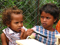Pauvres filles indiennes Images libres de droits