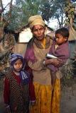 Pauvres personnes en Inde Image libre de droits