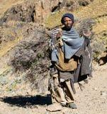 Pauvreté - débroussailleur de Basotho image stock