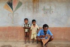 Pauvreté en Inde Photo libre de droits