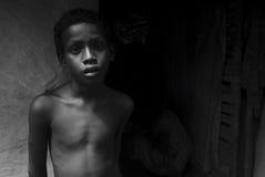 Pauvreté rurale en Inde Photos stock