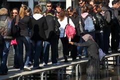 Pauvreté et inondation à Venise Image libre de droits