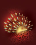 Pauw en ornament vector illustratie