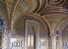 Pauwzaal binnen het Sammezzano-Kasteel Royalty-vrije Stock Afbeeldingen