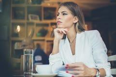 Pauze bij koffie royalty-vrije stock afbeeldingen