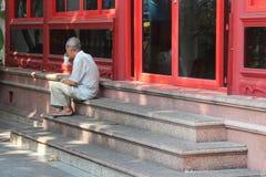 Pauze café (Wat Bowonniwet - Bangkok - Thaïlande) Stock Fotografie