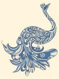 Pavão com cauda detalhada Foto de Stock