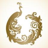 Pavão decorativo decorativo do pássaro Imagem de Stock