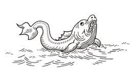 Pavão-do-mar gigante ilustração do vetor