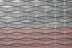 Pavé gris rouge à l'arrière-plan de perspective photos libres de droits