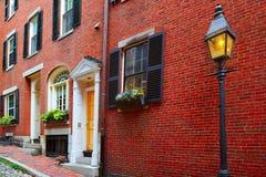Pavé rond Boston de Beacon Hill de rue de gland Image libre de droits
