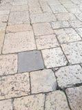 Pavés de caractéristiques de Brindisi, une ville en Puglia photo libre de droits
