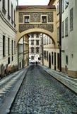 Pavés ronds dans la vieille ville, vieux Prague, République Tchèque Image libre de droits