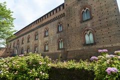 Pavía (Italia): castillo Foto de archivo libre de regalías