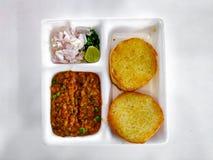 Pav Bhaji Индийская тарелка Карри стоковая фотография