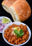 Pav Bhaji. Indian Dish 'Pav Bhaji', mix vegetable curry served with Bread Stock Images