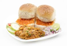 Pav Bhaji. Indian traditional street food Pav Bhaji Royalty Free Stock Images