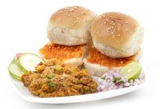 Pav Bhaji. Indian traditional street food Pav Bhaji Royalty Free Stock Photography