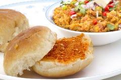 Pav Bhaji. Indian traditional street food Pav Bhaji Royalty Free Stock Photo