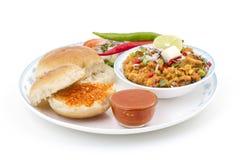 Pav Bhaji. Indian traditional street food Pav Bhaji Stock Images