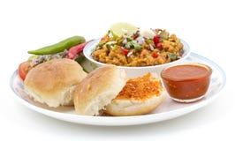Pav Bhaji. Indian traditional street food Pav Bhaji Royalty Free Stock Image