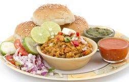Pav Bhaji. Indian traditional street food Pav Bhaji Stock Image