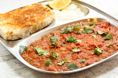 Pav bhaji Masala Indian street food Royalty Free Stock Image