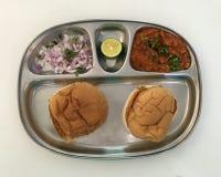 Pav bhaji is a popular fast food dish from Maharashtra, India Stock Image
