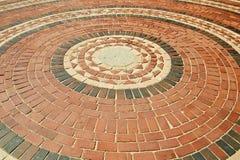 Pavage circulaire de brique Images libres de droits