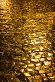 Pavage d'or Photos libres de droits