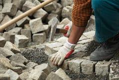 Pavage de la route de brique Images stock