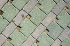Pavage de la texture concrète de pavés ronds Images libres de droits