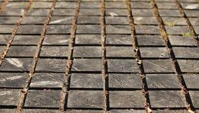 Pavage du passage couvert en bois Image libre de droits