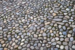Pavage pavé en cailloutis par pierre naturelle Photographie stock libre de droits