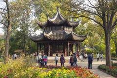 A pavilion in Zhuozheng Yuan Garden Royalty Free Stock Photography