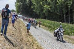 The Peloton - Tour de France 2018 stock photography