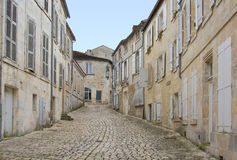 A paved alley of Cognac. France Royalty Free Stock Images